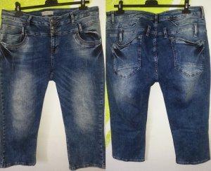 Tredy Jeans 7/8 bleu foncé tissu mixte