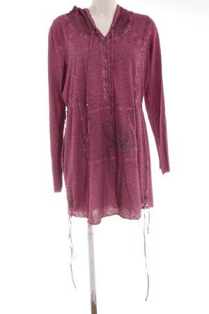 Tredy Kapuzenpullover violett Street-Fashion-Look