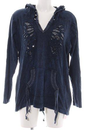 Tredy Kapuzensweatshirt blau Casual-Look