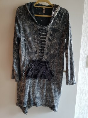 Tredy Kleid Pailetten magnet stonewashed