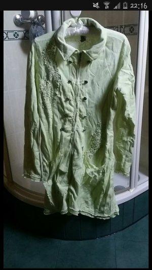 Tredy lange Jacke Größe 36 Farbe limette