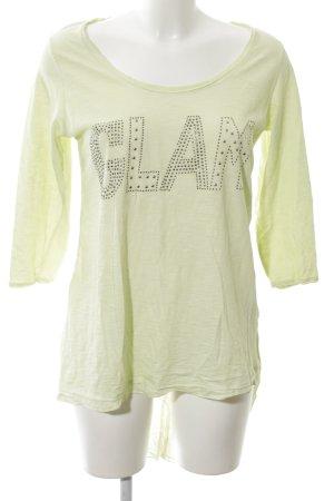Tredy Longshirt grün Schriftzug gedruckt Casual-Look