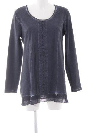 Tredy Longsleeve dunkelblau Street-Fashion-Look