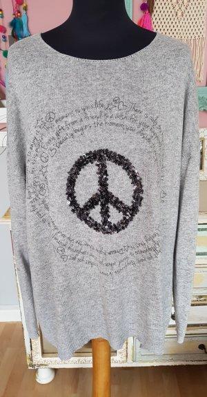 ♡ TREDY Peace Pullover XL 42-44-46 ♡
