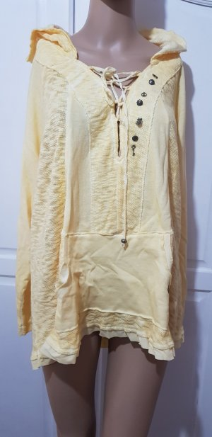 Tredy Hooded Shirt pale yellow