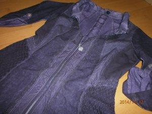 Tredy schicke Jacke Bluse Tunika m. süssen Details Lila Gr 36 38