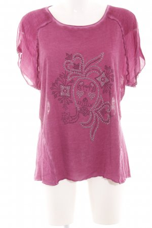 Tredy T-Shirt pink Blumenmuster Casual-Look