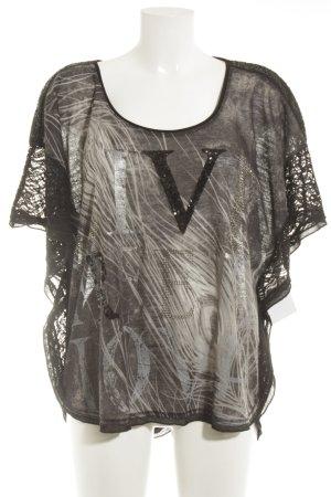 Tredy T-Shirt schwarz-grau Casual-Look