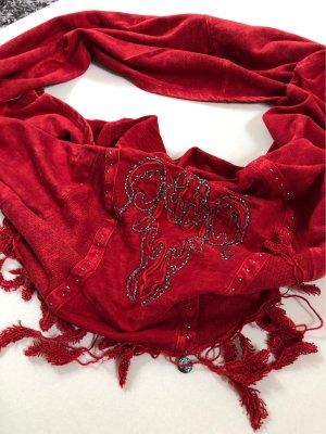 Tredy Tuch Loop Rot mit Verzierungen