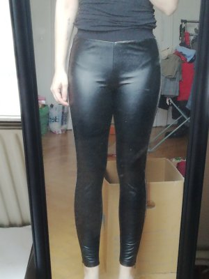 Calzedonia Treggings negro-color plata