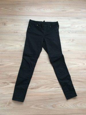 Treggings in schwarzem Jeans