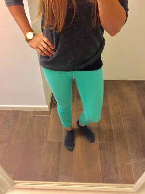 Treggings Jeggings mint grün Pieces enganliegend stretch mit Gummiband Leggings
