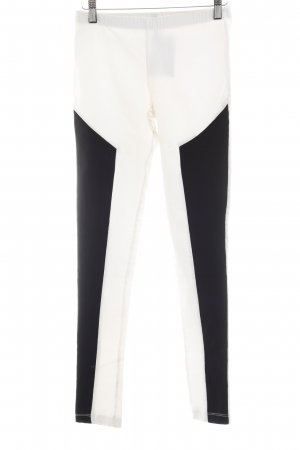Treggings blanco puro-negro look casual