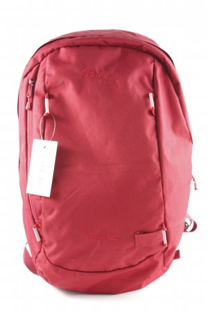 Trekking Backpack dark red athletic style