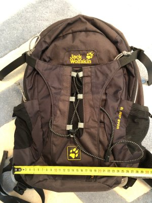Jack Wolfskin Trekking Backpack black-light orange
