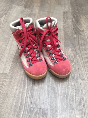 Aku Lace-up Boots cream-red