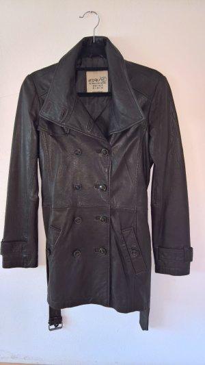 Trench Coat aus Leder