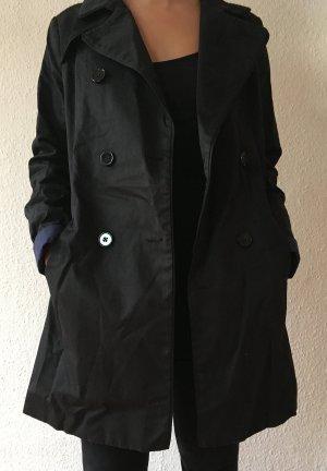 trench schwarz black franzosische marke french brand Etam