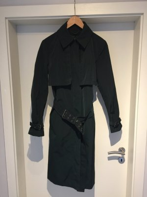 Zara Woman Trenchcoat bleu pétrole-vert forêt polyester