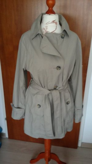 Blue Motion Trench Coat beige cotton