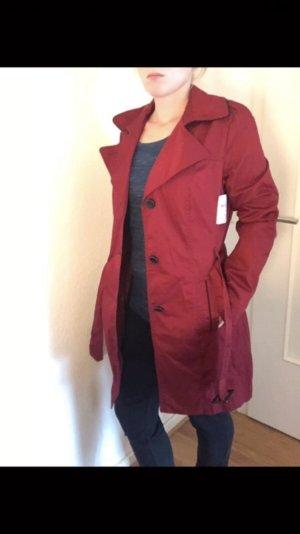 Trenchcoat 38 36 Neu Rot Bordeaux Fashion