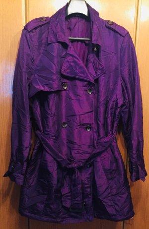Trenchcoat violet foncé