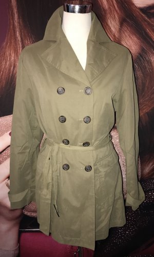 Blue Motion Trench Coat green grey