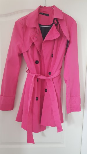 Flame Trench Coat pink