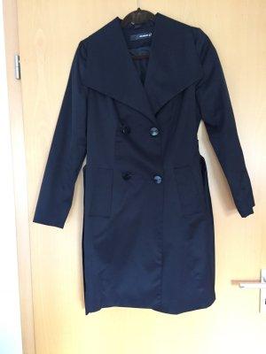 Abrigo corto negro tejido mezclado