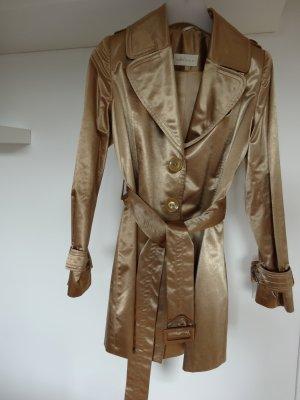 Trenchcoat aus Baumwolle goldfarben