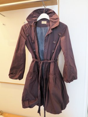 Trench Coat anthracite cotton