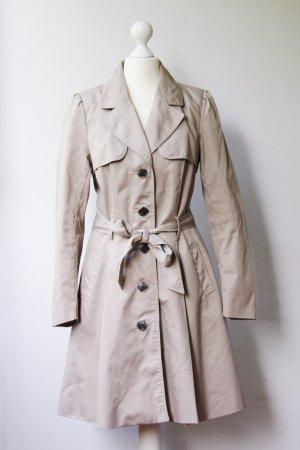 Trenchcoat, ausgestellt, mit Gürtel, beige