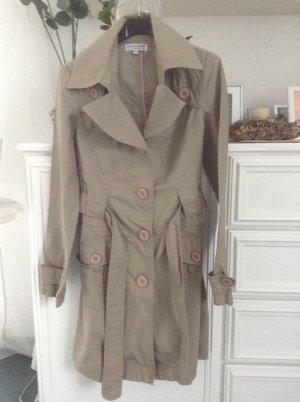 Trenchcoat / beige / Gr. 34 XS