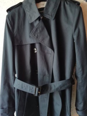 Closed Trench Coat dark blue cotton