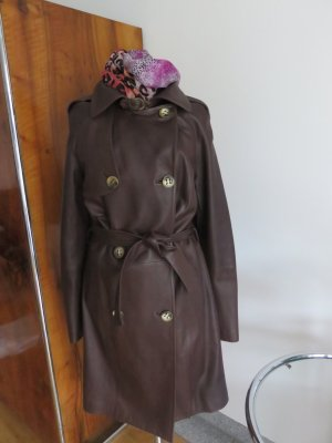 Aigner Trench Coat brown-dark brown leather