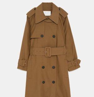 Zara Abrigo ancho marrón