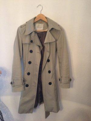 Trenchcoat in Grau-Beige von Zara-Basics