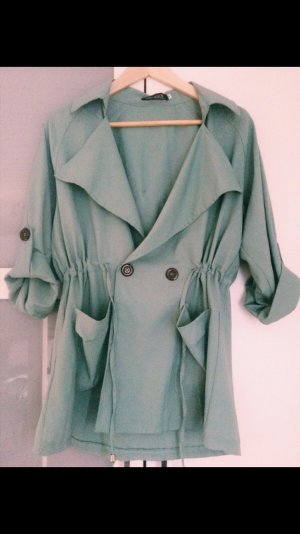 Trenchcoat in zartem mintgrün