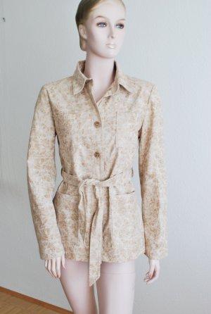Trenchcoat | Jacke im Hemdstyle, beige gemustert mit Gürtel von Miss Shitty