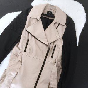 Trenchcoat Jacke Mantel beige schwarz