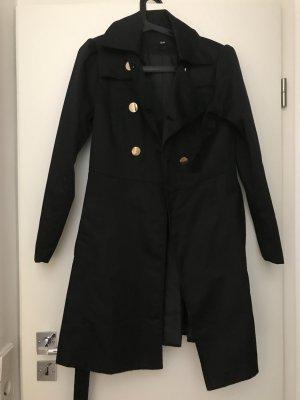 H&M Veste longue noir-doré