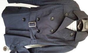 Trenchcoat, Jacke von JACKE*S mit Taillengürtel, Gr. 36, Marineblau, wie neu!