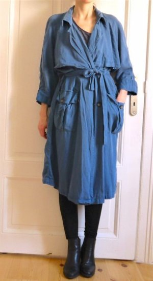 American Vintage Trench Coat cornflower blue