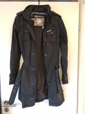 Khujo Trenchcoat gris ardoise
