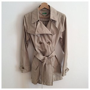 United Colors of Benetton Trench color cammello Tessuto misto