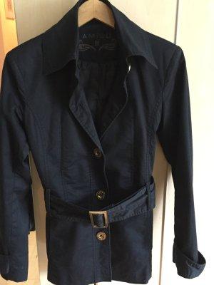 Trenchcoat, kurz, schwarz, Gr. 36