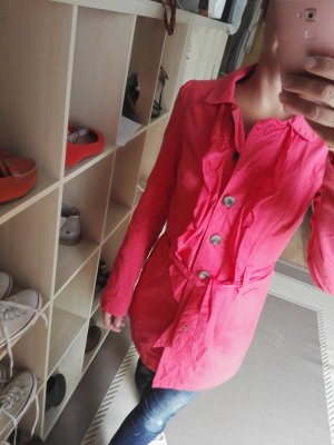 3 Suisses Trenchcoat saumon-rouge framboise