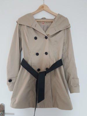 Trenchcoat / leichter Mantel mit Oversized Kapuze von Only Gr S