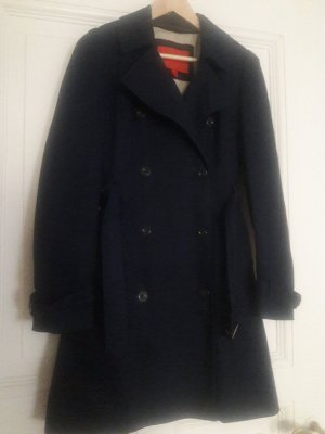 Mango Trench Coat dark blue