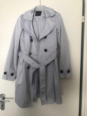 Trenchcoat Mantel 38 grau mit großen Knöpfen und Gürtel Duster Parka Asos Vintage